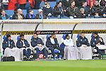 Die Ersatzbank v.l. Hoffenheims Ishak Belfodil (Nr.19), Hoffenheims Reiss Nelson (Nr.9), Hoffenheims Adam Szalai (Nr.28), Hoffenheims Ermin Bicakcic (Nr.4), Hoffenheims Leonardo Bittencourt (Nr.13), Hoffenheims Pavel Kaderabek (Nr.3) und Hoffenheims Alexander Stolz (Nr.33)  beim Spiel in der Fussball Bundesliga, TSG 1899 Hoffenheim - Fortuna Duesseldorf.<br /> <br /> Foto © PIX-Sportfotos *** Foto ist honorarpflichtig! *** Auf Anfrage in hoeherer Qualitaet/Aufloesung. Belegexemplar erbeten. Veroeffentlichung ausschliesslich fuer journalistisch-publizistische Zwecke. For editorial use only. DFL regulations prohibit any use of photographs as image sequences and/or quasi-video.