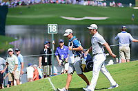 Jon Rahm (ESP) and his caddie, Adam Hayes make their way down 18 during Saturday's round 3 of the PGA Championship at the Quail Hollow Club in Charlotte, North Carolina. 8/12/2017.<br /> Picture: Golffile | Ken Murray<br /> <br /> <br /> All photo usage must carry mandatory copyright credit (&copy; Golffile | Ken Murray)