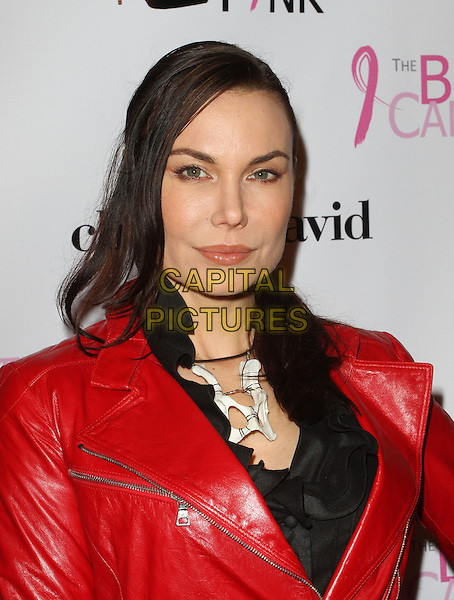 Jon Mack.The Breast Cancer Charities of America 2 Annual Fashion Show Fundraiser Held at Superclub, Hollywood, California, USA..October 19th, 2011.headshot portrait black red leather jacket white mask necklace .CAP/ADM/KB.©Kevan Brooks/AdMedia/Capital Pictures.
