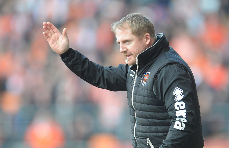Blackpool First-Team Coach Ian Dawes<br /> <br /> Photographer Kevin Barnes/CameraSport<br /> <br /> The EFL Sky Bet League One - Blackpool v Southend United - Saturday 9th March 2019 - Bloomfield Road - Blackpool<br /> <br /> World Copyright © 2019 CameraSport. All rights reserved. 43 Linden Ave. Countesthorpe. Leicester. England. LE8 5PG - Tel: +44 (0) 116 277 4147 - admin@camerasport.com - www.camerasport.com