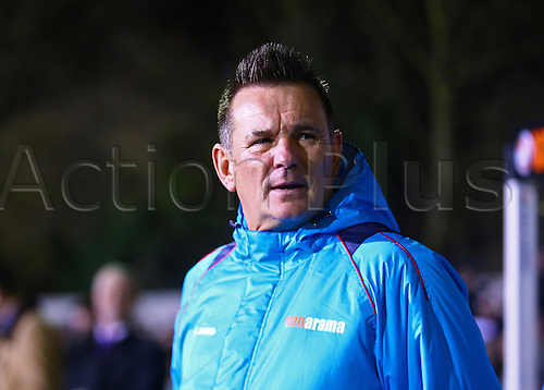 February 20th 2017, The Borough Sports Ground, Sutton, Surrey, England; FA Cup 5th Round football, Sutton United versus Arsenal FC; Sutton United Manager Paul Doswell prepares for kick off