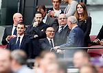 West Ham's David Gold talks to Tottenham's Daniel Levy during the premier league match at the London Stadium, London. Picture date 23rd September 2017. Picture credit should read: David Klein/Sportimage