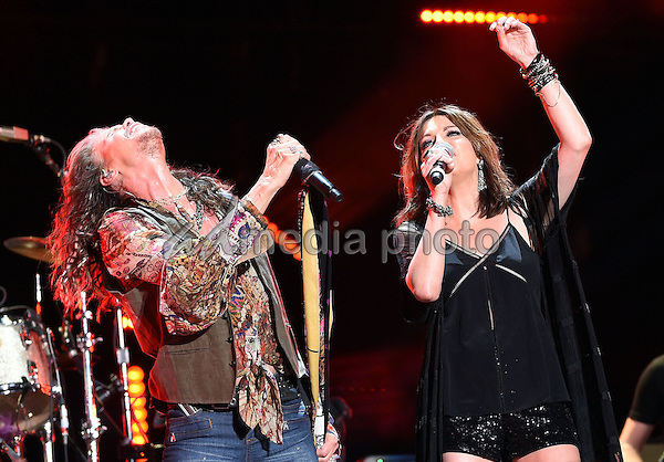 11 June 2016 - Nashville, Tennessee - Steven Tyler, Aerosmith and Martina McBride. 2016 CMA Music Festival Nightly Concert held at Nissan Stadium. Photo Credit: Laura Farr/AdMedia