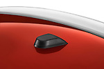 Closeup detail of the satellite antenna receiver on a 2009 Mitsubishi Eclipse Spyder Convertible Coupe