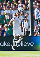 PASADENA, CA – June 25, 2011: USA player Carlos Bocanegra (3) during the Gold Cup Final match between USA and Mexico at the Rose Bowl in Pasadena, California. Final score USA 2 and Mexico 4.