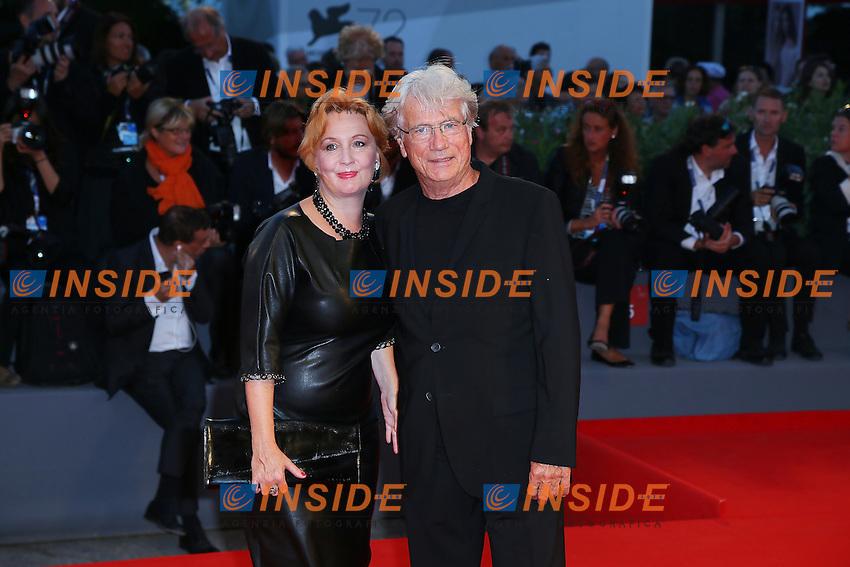 VENICE, ITALY - SEPTEMBER 10: Jurgen Prochnow and Verena Wrengler attend 'Remember' Red Carpet during 72nd Venice Film Festival at Palazzo Del Cinema on September 3, 2015 in Venice, Italy. (Mark Cape/insidefoto)