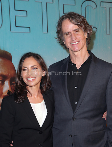 LOS ANGELES, CA - JANUARY 10: Susanna Hoffs, Jay Roach, at the Los Angeles Premiere of HBO's True Detective Season 3 at the Directors Guild Of America in Los Angeles, California on January 10, 2019. Credit: Faye Sadou/MediaPunch
