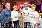 John Keane, Emily Keane, Kinda Lowe, Henry Lowe and Lidia Keane pictured at the John Mitchel's Strictly Come Dancing at the Ballygarry House Hotel on Sunday night.