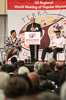 Bishop Shelton Fabre, Diocese of Houma-Thibodaux, speaks as part of the U.S. Regional World Meeting of Popular Movement's plenary panel on racism.