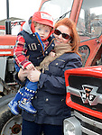 Carol and James Donnelly pictured at the tractor run in Dunleer in aid of SOSAD. Photo:Colin Bell/pressphotos.ie