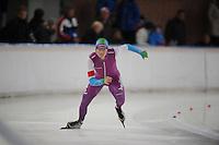 SCHAATSEN: DEVENTER: IJsbaan De Scheg, 26-10-12, IJsselcup, Sjoerd de Vries, ©foto Martin de Jong