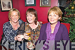 SWING: Maria Garvey,Anne Carmody and Kay Mcnamara (Tralee) get into the swing of thing asv the Clock striks midnight as they brought in the New Year in Baily's Corner, Tralee Friday night...... . ............................... ..........