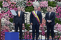 BOGOTÁ - COLOMBIA, 07-08-2018: Ivan Duque, con Ernesto Macias y Alejandro Chacon presidentes del congreso, durante la toma de posesión como presidente de Colombia para el período constitucional 2018 - 22 durante ceremonia en la Plaza Bolívar el 7 de agosto de 2018 en Bogotá, Colombia. / Ivan Duque, with Ernesto Macias and Alejandro Chacon, presidents of the congress, during the ceremony to take office to constitutional term as president 2018 - 22 at Plaza Bolivar on August 7, 2018 in Bogota, Colombia. Photo: VizzorImage/ Gabriel Aponte / Staff