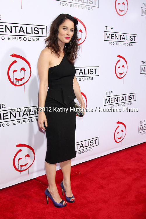 "LOS ANGELES - OCT 11:  Robin Tunney arrives at ""The Mentalist"" 100th Episode Party at The Edison on October 11, 2012 in Los Angeles, CA"