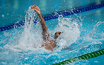 Wales Xavier Castelli in action during the mens 100m backstroke final <br /> <br /> *This image must be credited to Ian Cook Sportingwales and can only be used in conjunction with this event only*<br /> <br /> 21st Commonwealth Games - Swimming -  Day 2 - 06\04\2018 - Gold Coast Optus Aquatic centre - Gold Coast City - Australia