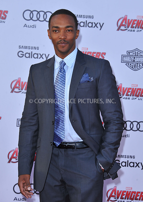 WWW.ACEPIXS.COM<br /> <br /> April 13 2015, LA<br /> <br /> Anthony Mackie arriving at the Premiere Of Marvel's 'Avengers: Age Of Ultron' at the Dolby Theatre on April 13, 2015 in Hollywood, California.<br /> <br /> <br /> By Line: Peter West/ACE Pictures<br /> <br /> <br /> ACE Pictures, Inc.<br /> tel: 646 769 0430<br /> Email: info@acepixs.com<br /> www.acepixs.com