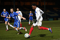 Fejiri Okenabirhie of Dagenham  and Michael Duckworth of Halifax Town during FC Halifax Town vs Dagenham & Redbridge, Vanarama National League Football at The Shay on 13th March 2018