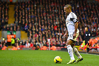 Sunday, 23 February 2014<br /> Pictured: Swansea City's Wayne Routledge<br /> Re: Barclay's Premier League, Liverpool FC v Swansea City FC v at Anfield Stadium, Liverpool Merseyside, UK.