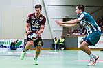 Stockholm 2013-10-16 Handboll Elitserien Hammarby IF - LUGI :  <br /> Lugi 11 Anders Hallberg i kamp om bollen med Hammarby 9 Nils Pettersson<br /> (Foto: Kenta J&ouml;nsson) Nyckelord: