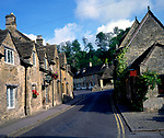 A01XEA Old cottages Castle Combe Wiltshire England