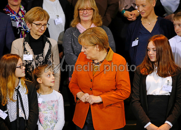14 December 2016 - Berlin, Germany - German Chancellor Angela Merkel welcomes members of the Bundeswehr's armed forces as well as with police officers who are abroad in the Federal Chancellery. Photo Credit: Stocki/face to face/AdMedia