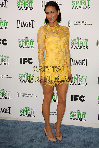 SANTA MONICA, CA - March 01: Paula Patton at the 2014 Film Independent Spirit Awards Arrivals, Santa Monica Beach, Santa Monica,  March 01, 2014. Credit: Janice Ogata/MediaPunch<br /> CAP/MPI/JO<br /> &copy;JO/MPI/Capital Pictures