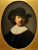 """self portrait c 1632 - """"Rembrandt and the Passion"""" offers a unique opportunity to see a number of famous painting in the The Hunterian's collection as well as masterpieces never seen before in Scotland - at the Hunterian Gallery - Glasgow University - picture by Donald MacLeod - 19.9.12 - 07702 319 738 - clanmacleod@btinternet.com - www.donald-macleod.com"""