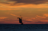 Beautiful Sunset Sail on Tall Ship Friends Good Will of South Haven, Michigan