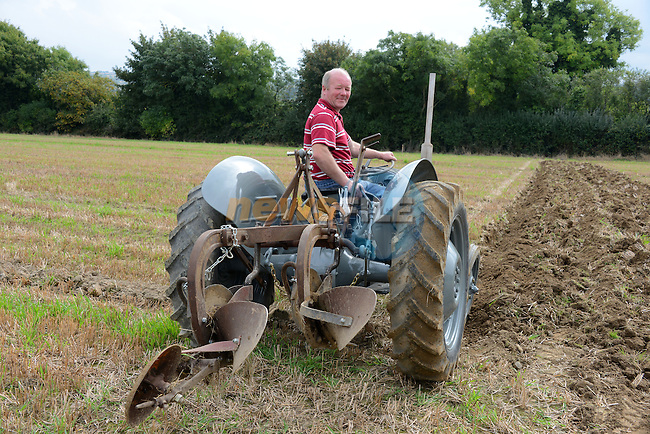 Dermot Farrelly in action at the Meath Vintage Group's ploughing Day at Townley Hall.