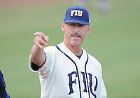 Florida International University Head Coach Turtle Thomas before the game against the University of North Florida. FIU won the game 6-4 on March 13, 2012 at Miami, Florida.