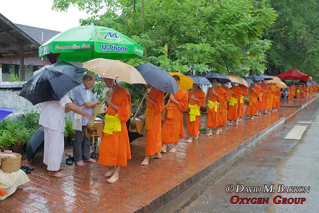 Monks Receiving Food