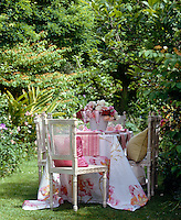The garden makes a wonderful 'dining room' for an al fresco summer lunch
