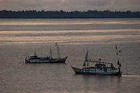 Baia do Guajará foz do Amazonas.<br /> Belém, Pará, Brasil.<br /> Foto Paulo Santos<br /> 2006