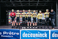 Team Tarteletto-Isorex pre race team presentation<br /> <br /> GP Monseré 2020<br /> One Day Race: Hooglede – Roeselare 196.8km. (UCI 1.1)<br /> Bingoal Cycling Cup 2020