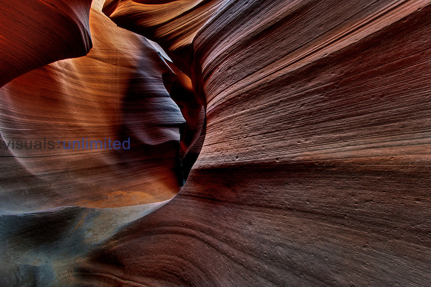 View into Lower Antelope Canyon, Page, Arizona, USA.