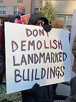Greenwich Village Residents Protest Proposed Skyscaper
