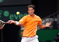 18-9-09, Netherlands,  Maastricht, Tennis, Daviscup Netherlands-France,  Jesse Huta Galung  J