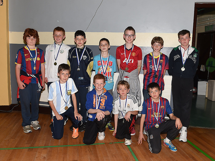 Under 12 players pictured at Ardee Celtic underage awards night in Ardee Parish Centre. Photo:Colin Bell/pressphotos.ie