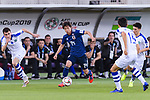 Ito Junya of Japan (C) runs with the ball during the AFC Asian Cup UAE 2019 Group F match between Japan (JPN) and Uzbekistan (UZB) at Khalifa Bin Zayed Stadium on 17 January 2019 in Al Ain, United Arab Emirates. Photo by Marcio Rodrigo Machado / Power Sport Images