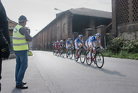 4 FDJ riders (+ 3 others) break free from the peloton and keep hanging behind the breakaway for a while<br /> <br /> 98th Milano - Torino 2017 (ITA) 186km