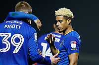 GOAL - Lyle Taylor of AFC Wimbledon scores during the Sky Bet League 1 match between AFC Wimbledon and Charlton Athletic at the Cherry Red Records Stadium, Kingston, England on 10 April 2018. Photo by Carlton Myrie / PRiME Media Images.