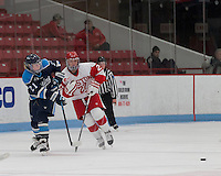 Boston, Massachusetts - January 10, 2015: Boston University defeated University of Maine, 5-3, at Walter Brown Arena.