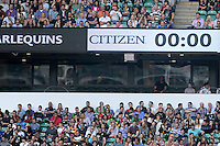 Citizen, the new Premiership Rugby sponsor during the Round 1 match between London Irish and Harlequins at Twickenham Stadium on Saturday 6th September 2014 (Photo by Rob Munro)