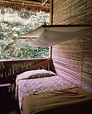 PERU, Amazon Rainforest, South America, Latin America, bed with mosquito net in lodge