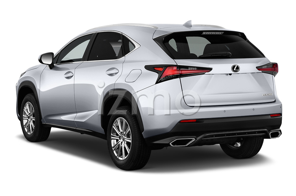 Car pictures of rear three quarter view of a 2018 Lexus NX 300 FWD 5 Door SUV angular rear