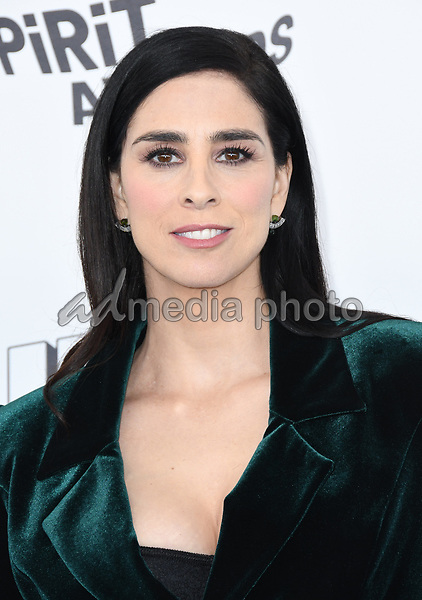 03 March 2018 - Santa Monica, California - Sarah Silverman. 2018 Film Independent Spirit Awards -Arrivals, held at the Santa Monica Pier. Photo Credit: Birdie Thompson/AdMedia