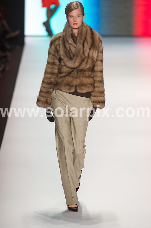 **ALL ROUND PICTURES FROM SOLARPIX.COM**                                             **SYNDICATION RIGHTS FOR UK, AUSTRALIA, DENMARK, PORTUGAL, S. AFRICA, SPAIN & DUBAI (U.A.E) & ASIA (EXCLUDING JAPAN) ONLY**                                                                                  Caption: Carolina Herrera catwalk show, Mercedes-Benz Fashion Week Fall  2011, Lincoln Center - New York City, NY, USA. 14 February 2011                                                                              This pic: Carolina Herrera show                                                                                          JOB REF: 12801 PHZ Miller      DATE: 14_02_2011                                                           **MUST CREDIT SOLARPIX.COM OR DOUBLE FEE WILL BE CHARGED**                                                                      **MUST AGREE FEE BEFORE ONLINE USAGE**                               **CALL US ON: +34 952 811 768 or LOW RATE FROM UK 0844 617 7637**