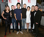 Anna Jordan, Jack DiFalco, Justice Smith, Lucas Hedges, Stefania LaVie Owen, Ari Graynor, Trip Cullman attends the 'Yen' Opening Night After Party at the Sushisamba on January 31, 2017 in New York City.