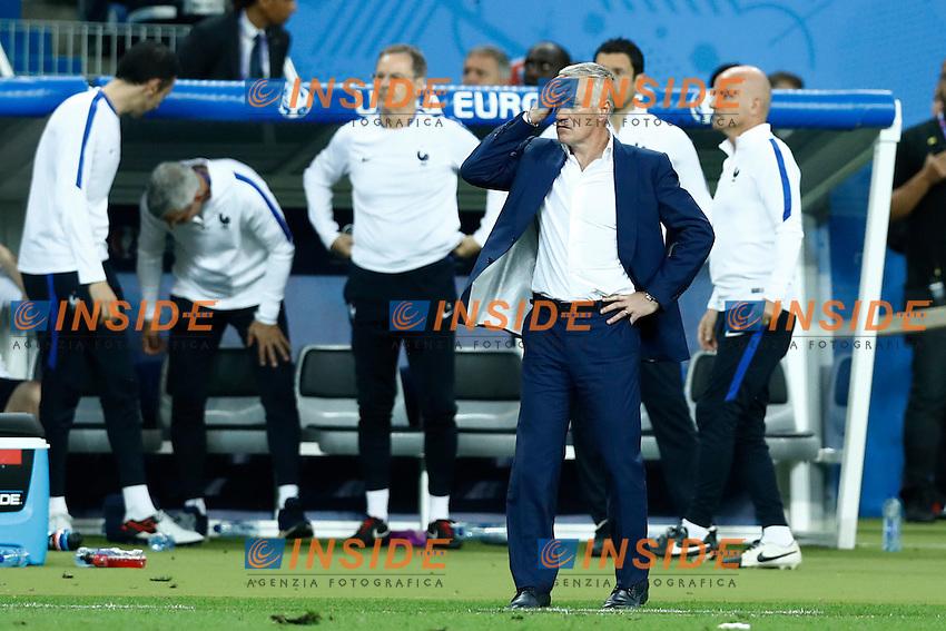 The delusion of France coach Didier Deschamps. allenatore delusione<br /> Paris 10-07-2016 Stade de France Football Euro2016 Portugal - France / Portogallo - Francia Final / Finale <br /> Foto Matteo Ciambelli / Insidefoto