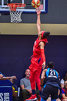 Washington, DC - August 31, 2018: Washington Mystics forward Aerial Powers (23) goes up for a lay up during semi finals playoff game between Atlanta Dream and Wasington Mystics at the Charles Smith Center at George Washington University in Washington, DC. (Photo by Phil Peters/Media Images International)